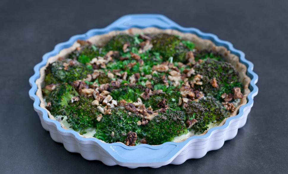 tærte med broccoli og feta