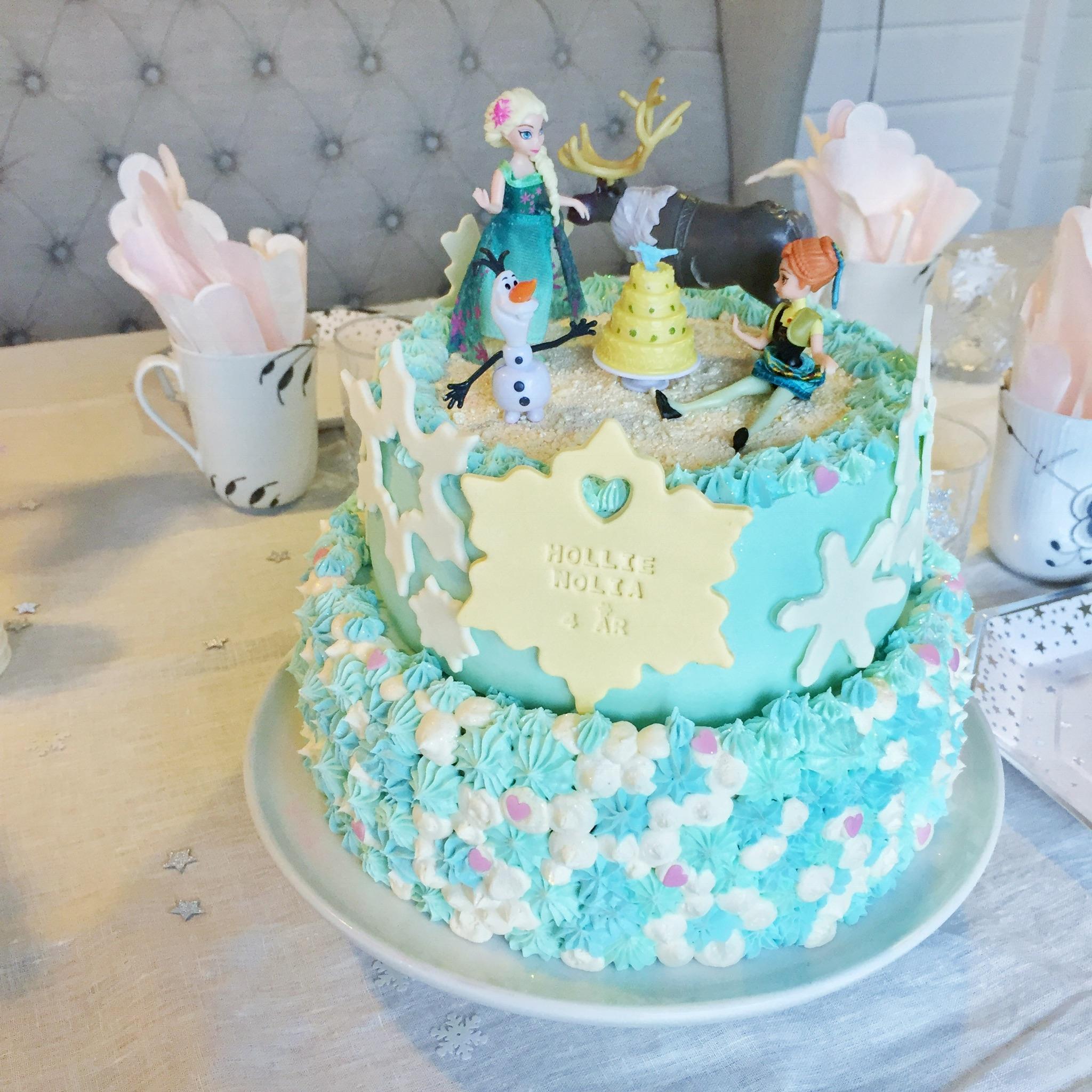 elsa kage opskrift
